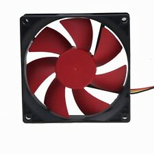 Red Leaves 9cm 90mm 90x25mm Hydraulic 3pin 12V Brushless PC CPU Case Cooling Fan