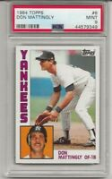 1984 Topps #8 Don Mattingly Rookie PSA 9 MINT New York Yankees L@@K !