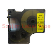 Compatible D1 40918  Black on Yellow 9mm 7m Label Point Label Tape Writer