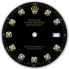 CUSTOMIZED DATEJUST-36MM 2TONE BLACK DIAMOND DIAL RT FOR ROLEX