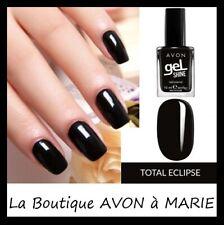 Gel Shine Nail Polish Black Intense Avon : Total Eclipse