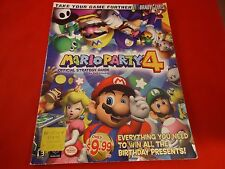 Mario Party 4 Nintendo Gamecube Strategy Guide Player's Hint Book