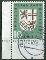 Bund Nr. 249 Eckrand Ecke 3 gestempelt Oberursel Eingliederung Saarland 1959