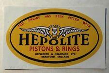 Hepolite Pistons & Rings Sticker Large Size Triumph Pre Unit BSA