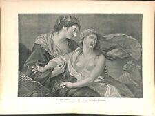 L'innocence se réfugiant dans les bras de la justice Vigée Le Brun GRAVURE 1886