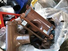 112mm Half Round Hunter BR011 Gutter Running Outlet - Brown