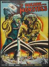 THE WAR OF THE GARGANTUAS Movie POSTER 11x17 French