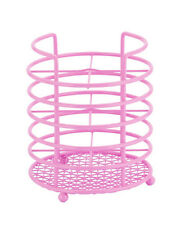 Pink Kitchen Wire Metal Cutlery Container Pot