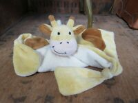 New JOJO MAMAN BEBE Cow Blankie Soother Comforter Dou Dou Animal Comfort Blanket
