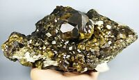 New Find Beauty Andradite Golden Hair Garnet Crystal Mineral Specimens/China