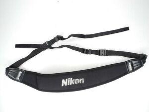 Nikon Black / White Neoprene Camera Neck Strap w/ Quick Release