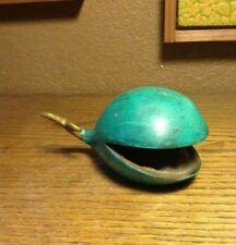 Vintage Bronze Whale Ashtray Paperweight