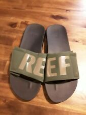 NWOT😊REEF Cushion Bounce mens slides green/black sz 13 FAST SHIP 😊