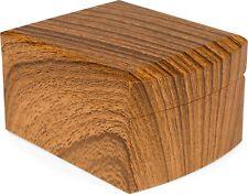 Schmuckschatulle in Holz Optik für Schmuck, Ketten, Armbänder, Geschenkbox Box