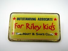 Vintage Collectible Pin: Walmart Wal-mart Outstanding Associate Fore Riley Kids