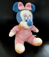 T- DOUDOU PELUCHE DISNEY BABY NICOTOY MINNIE PYJAMA ROSE BLEU col orange 26 cms