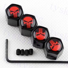 Antitheft Auto Accessories Wheel Tire Tyre Valve Stem Cap Skull Punisher Styling