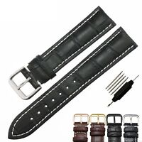 Genuine Leather Watch Band Strap Replacement 18 19 20 21 22 23 24 26 mm