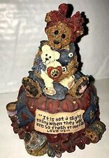 New Boyds Bears 1999 Limited ~1E Momma Mcbear.Quiet Time~ Music Box #2784Sf