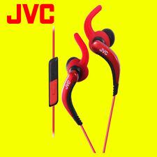 JVC haetr 40 Rojo Deportes Auriculares Con Control Remoto Y Micrófono Original/Nuevo
