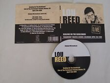 Dealing on the Boulevard - Lou Reed (Live) 1989 Card Sleeve