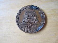 1939 Medal Ham & Eggs $30 a week for Life Political Movement CALIFORNIA