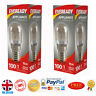 2x Eveready 15w Fridge / Appliance / Freezer Light Pygmy Bulb SES E14 240v Screw