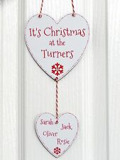 It's Christmas at the YOUR NAME Sign Plaque Personalised Family Xmas Decoration