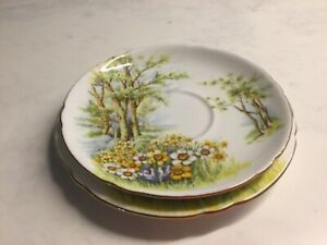 SHELLEY BONE CHINA SIDE  PLATE AND SAUCER DAFFODIL TIME PATT. 13370