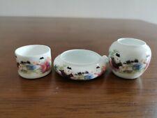 1set 3pcs Asian Bamboo Bird Cage Boy porcelain cups 鸟食�