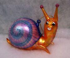 Slavic Treasures Retired Glass Ornament - Slowpoke Snail