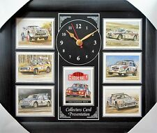 Rally Cars Of the 80s Group B Models Stunning Collector Cards Wall Clock