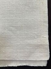 "antique unused linen fabric handwoven 19.5"" w by 72"" long uncut, great texture"