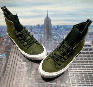 Converse Chuck Taylor All Star WP Boot High Top Utility Green Size 9 162408c New