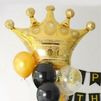 Gold Crown Foil Helium Balloon Princess Birthday Party Wedding Decoration AU
