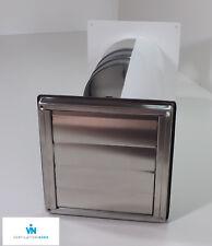 Mauerkasten Dunstabzug Edelstahl 125mm Blower Door Test Zertifikat VNESM125WSQLE