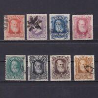 BRAZIL 1878, Sc# 68-75, CV $72, part set, Used