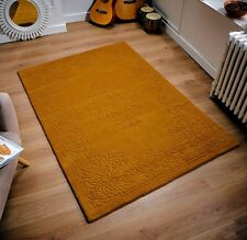 IMPERIAL MARMALADE ORANGE GOLD SOFT THICK 100% INDIAN WOOL PILE AUBUSSON RUG
