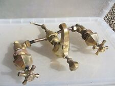 Vintage Brass Bath Mixer Taps Basin Sink Art Deco Architectural Antique Bronze