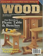 Wood Magazine   Better Homes And Gardens   June 1996   Issue No. 88