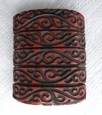 Japanese Inro Tsuishi 4 Case Meiji Period