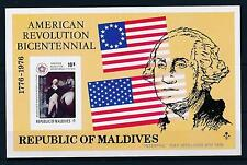 [36733] Maldives 1976 American revolution Overprint Interphil Imperf. SS MNH