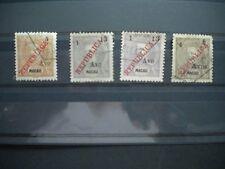 """MACAU MACAO 1913 D. Carlos 1 opt. 'REPUBLICA"""" Surcharged. SC206-209, FU"""