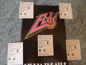 Elvis the Musical Programme The Astoria Theatre with Shakin Stevens & 5 Tickets