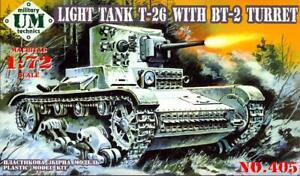 UM-MT Models 1/72 Soviet T-26 / BT-2 LIGHT TANK