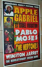 APPLE GABRIEL - PABLO MOSES - THE  HEPTONES / Original Tour Poster /  72 x 102