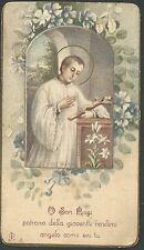 Estampa antigua San Luis Gonzaga andachtsbild santino holy card santini