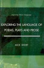 Exploring the Language of Poems, Plays and Prose by Mick Short (Paperback, 1996)