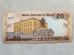 20 lira 1967 (1986) Malta banknote