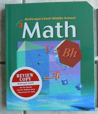 McDougal Littell Middle School MATH, Course 3 NEW TEXT gr.8/8th